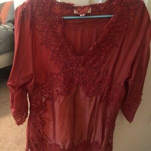 Anthropologie French silk top